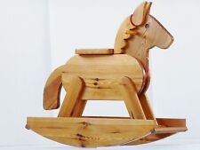 SUPERBE CHEVAL A BASCULE EN PIN 1970 1980 VINTAGE 70S 80S FRENCH ROCKING HORSE