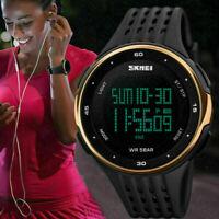 Men's Date Fashion Quartz Military Sport LED Digital Waterproof Shock Watch US