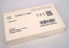 1x SWAROVSKI 6261 CLEAR CRYSTAL 17mm DEVOTED 2 U HEART CHARM PENDANT