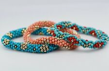 3 Meredith Fredrick 14k Yellow Gold Bead Bracelets Turquoise And Coral Designs