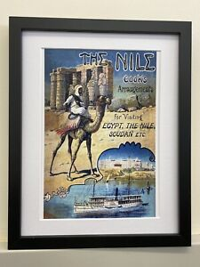 Vintage Retro Reproduction Egypt The Nile Travel Poster Print A4