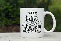 Life Is Better At The Lake Coffee Mug Personali Ed Coffee Mug Lake House Coffee