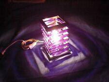 HPI T111128 purple Lampe violett - Glitzer Leuchte Tischlampe lila chrom