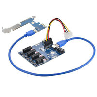 PCI-E 1 to 4 PCI Express 1X Riser Card to 4 PCI-E HUB Adapter ITX to External