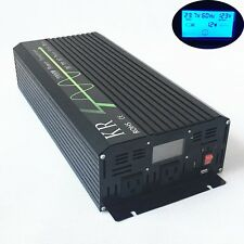 Home Power Inverter 2000W 24V to 120V 60HZ Off Grid Pure Sine Wave LCD from US