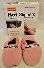 12 Hot Slippers Microwave Foot Warmers Medium Choose Colors Blue Pink Gray 7-9.5