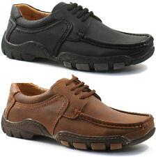 MENS GOOR CASUAL FORMAL SHOES SIZE UK 6 - 12 MOCCASIN BLACK OR BROWN M566 KD