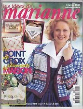 Les idées de Marianne N°15 février 1996 point de croix , tricot