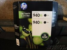New Sealed TWIN-PACK HP 940XL Black High Yield Inkjet Pro 8000 CH633BN C4906AN