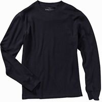 Men's thermal shirt Faded Glory long sleeve 100% cotton navy medium and large