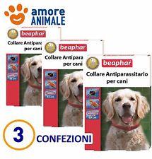 3 COLLARI Beaphar Collare Antiparassitario rosso 65 cm - Durata 4 mesi per cani