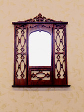 Dollhouse Miniature 1:12 Scale Rosewood Chippendale Mirror- Artist Made