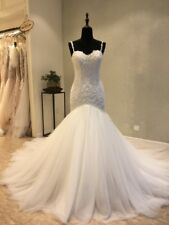 Sexy Mermaid white/ivory wedding dress custom size 2-4-6-8-10-12-14-16+++++