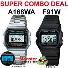 COMBO DEAL FREE POST FROM SYDNEY CASIO RETRO 1 x F91W PLUS 1 X A168WA