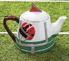 "burton+Burton Ceramic 6 Cup Teapot Tea Pot 6.8"" FOOTBALL GO TEAM"