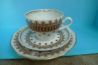 Old VTG USSR Soviet Latvia RIGA RPR Cup Saucer Plate Set porcelain ornament mark