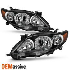 2011 2012 2013 Toyota Corolla Black Headlights Replacement Front Lamps Pair New