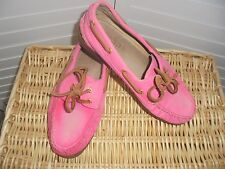 SPERRY TOP SIDER 4 J CREW PINK Flats Boat Loafers Womens Shoes Sz 8