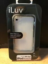 iLuv  Flexi-Clear TPU Case with Pattern for iPod Touch 4G - iCC615CLR