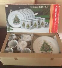 Salem Christmas Eve New In Box 12 Piece Buffett Set