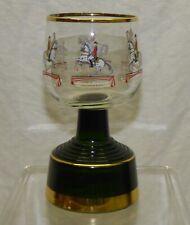 Vtg Musical Lipizaner Horse Wine Glass Mermod Jaccard St Croix Swiss Music Box