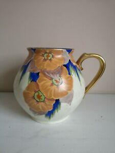 "Art Deco Carlton Ware Handcraft ""Peach Melba"" Handled Vase"