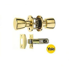 YALE PASSAGE KNOB HANDLE SET WITH ADJUSTABLE LATCH - POLISHED BRASS P-5231T-PB