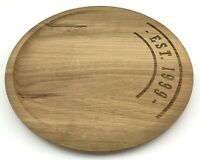 Round Wood Serving Tray Cheese Board Pizza Plate Chopping Platter Cutting Plinth