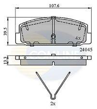 COMLINE Posteriore Set Pastiglie dei freni si adatta Mazda WST299