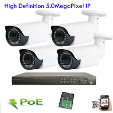 8Channel Wifi Nvr 2592x1920P 5Mp (4 PoE Ip 42Ir Security Camera System Ip66 5hj0