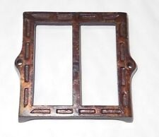 Victorian Cast Iron Copper Label Holder Country Store Apotherapy Pharmacy