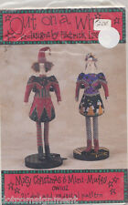 "Mary Christmas & Mini Muffy 21"" Dolls & Pedestal Patterns 1992 Out on a Whim"