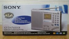 SONY ICF-SW7600GR FM Stereo World Band Receiver Radio VGC box AC adapter