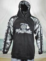 MAUI BUILT Pullover Sweatshirt JACKET Sz M Hoodie CAMO Sleeves Black Gray LOGO