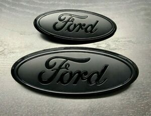 Ford Explorer 2016-2019 Black/Flat Emblem set (Grille & Liftgate Ovals)