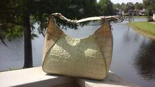 BRAHMIN Leather Crocodile Embossed Hobo Shoulder Bag Purse