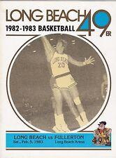 2-5-83 CAL STATE FULLERTON AT LONG BEACH STATE NCAA BASKETBALL PROGRAM LEON WOOD