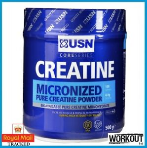 USN Micronized Creatine Monohydrate Powder 500g Strength Muscle Growth Recovery