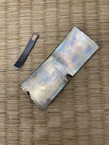 solid silver habaki material for japanese katana wakizashi sword