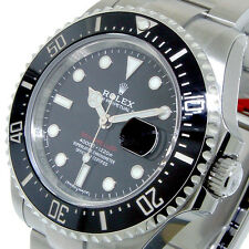 ROLEX 126600 SEA-DWELLER 43 mm STEEL BLACK CERAMIC BEZEL 126600 ANNIVERSARY RED