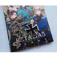 Cosplay APH Axis Powers Hetalia German Prussia Metal Cross Necklace Chain Black