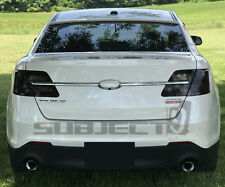 13-19 Ford Taurus / SHO Tail light + reflector tint cover vinyl overlays smoked