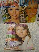 Vintage Harper's Bazaar Magazine lot 3 Cheryl Tiegs October 1974 June 1977 1979