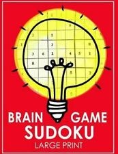 Brain Game Sudoku Large Print : Easy, Medium to Hard Level Puzzles for Adult ...