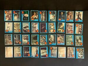1977 Topps Star Wars 1st Series 1 Complete 66 Blue Card Set Rough Condition