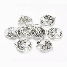 Tibetan tree Of life Pendants - 25x29x1.7mm Hole 2mm, Pack 10, 4 Colours availab