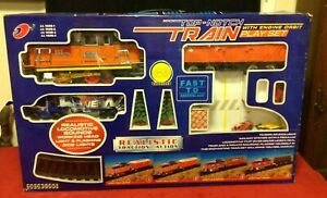 Top Notch Train Engine Orbit Locomotive Chug Sound Play Set Traction Battery
