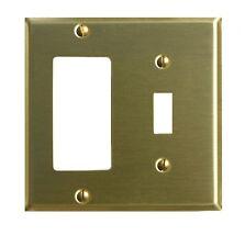 Switchplate Brushed Brass Gfi Toggle   Renovator's Supply