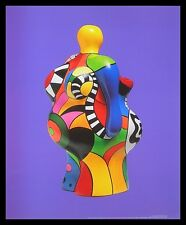 Niki de saint phalle soleil póster imagen son impresiones artísticas en el marco de aluminio negro 58x48cm