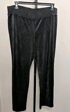 Lane Bryant Plus Velvet Velour Pants Stretch Pull On Womens Size 18/20 Gray
